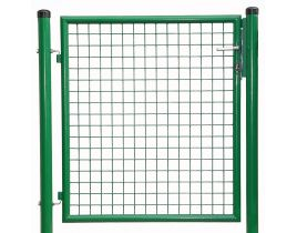 1-flg. Gartentor, Gr. 800 x 1000 mm (H x B), phosphatiert + polyesterbeschichtet  RAL 6005 grün