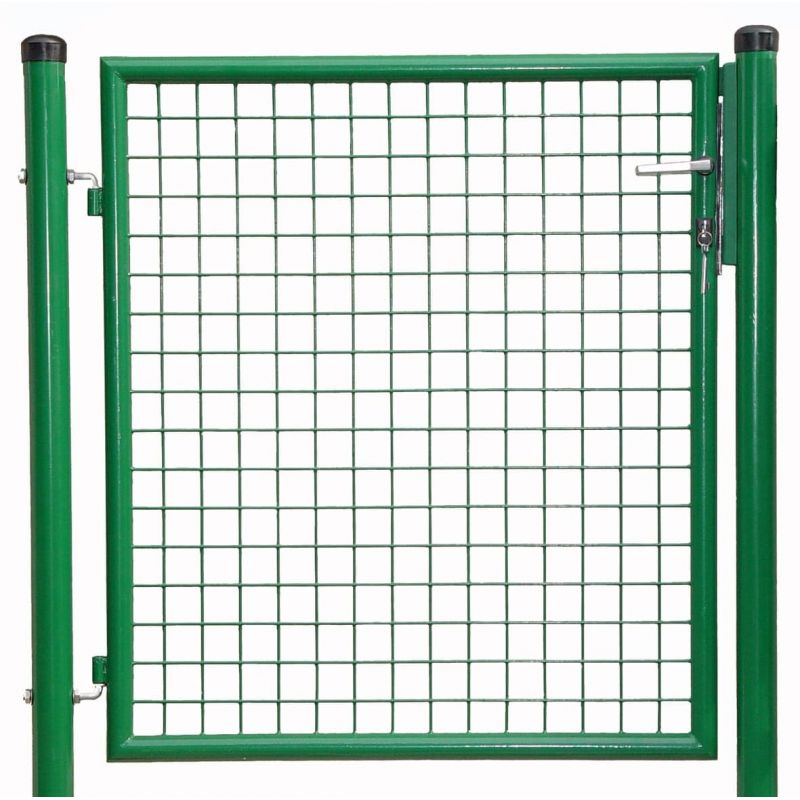 1-flg. Gartentor, Gr. 1250 x 1000 mm (H x B), phosphatiert + polyesterbeschichtet  RAL 6005 grün