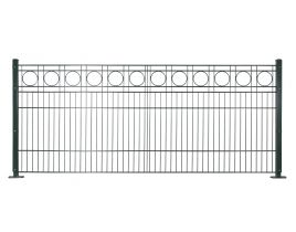 Dekormattenzaun,Typ Rondell, Gr. 2464 x1209 mm (Breite x Höhe), Ausführung gerade, feuerverzinkt + RAL 6005 grün