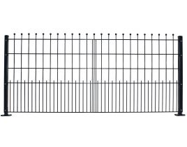 Dekormattenzaun,Typ Kugel, Gr. 2418 x 1089 mm (Breite x Höhe), Ausführung gerade, feuerverzinkt + RAL 7016 anthrazit