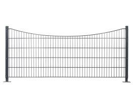 Dekormattenzaun,Typ Unterbogen, Gr. 2464 x1209 mm (Breite x Höhe), feuerverzinkt + RAL 7016 anthrazit