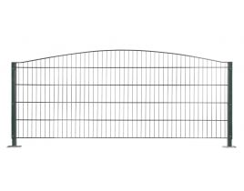 Dekormattenzaun,Typ Oberbogen, Gr. 2464 x1009 mm (Breite x Höhe), feuerverzinkt