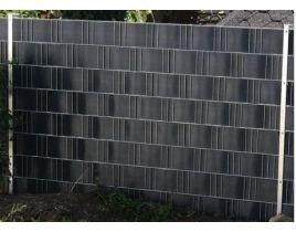 Massiv-Holzsichtschutz-Zaun Stufenelement rechts / links aus Fichte, Gr. 90 x 180 – 165cm, KDS