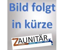 Kunststoff-Sichtschutzelmente Flechtzaun, Gr. 1800/2050 x 1000 mm, (Höhe x Länge), Ausführung weiß, mit Oberbogen