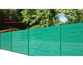 Aluminium Sichtschutz Typ 1, Gr. 1800x1800mm, grün