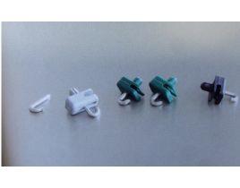Spanndrahthalter aus Kunststoff, Farbe grau