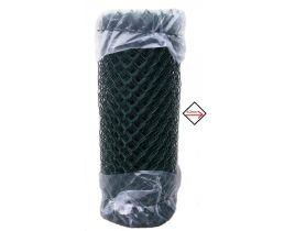 Maschendrahtzaun kunststoffummantelt grün, 1750mm, Maschenweite 60mm, Drahtstärke 2,8mm, kurze Rolle