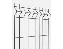 Rechteckrohrpfosten für Einstabmatten mit Klemmplatten, anthrazit, zum Einbetonieren, Länge 2400mm für Zaunhöhe 1730mm