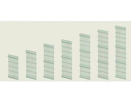 Einstabmatten, RAL 6005 grün, Gr. 2500 x 2030mm, Typ 4,8mm