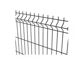 Rundrohrpfosten für Einstabmatten mit Hakenschraube, anthrazit, zum Einbetonieren, Länge 2400mm für Zaunhöhe 1730mm